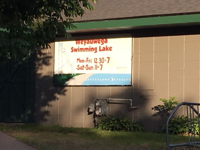 Swimming Lake Sign